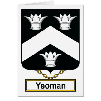 Yeoman Family Crest Cards