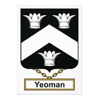 Yeoman Family Crest Custom Invites
