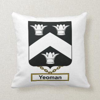 Yeoman Family Crest Throw Pillow