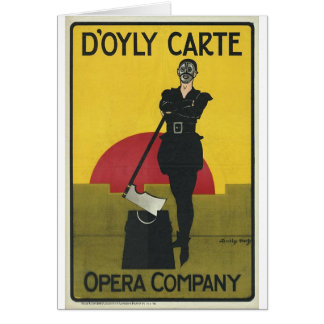 Yeoman of the Guard Vintage Opera Poster Greeting Card