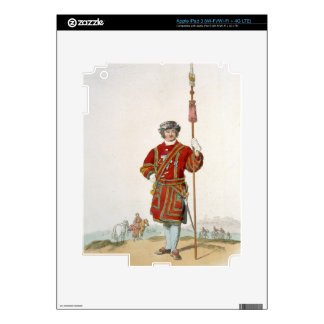 Yeoman of the King's Guard, from 'Costume of Great iPad 3 Skin