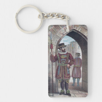 Yeoman Warder at the Tower of London Single-Sided Rectangular Acrylic Keychain