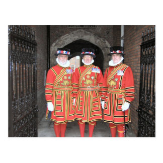 Yeoman warders, or Beefeaters, at Windsor Castle Postcard