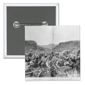 Yeomanry surprised in a drift 2 inch square button