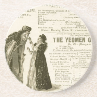 Yeomen of the Guard Cast Coaster