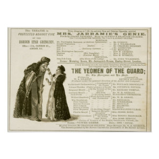 Yeomen of the Guard Cast Poster