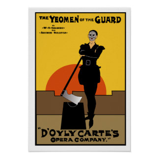 Yeomen of the Guard Imitation Poster