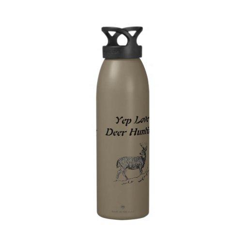 Yep caza de los ciervos del amor botella de agua reutilizable