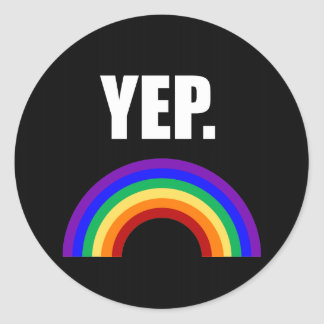 Yep Funny Gay Pride Stickers