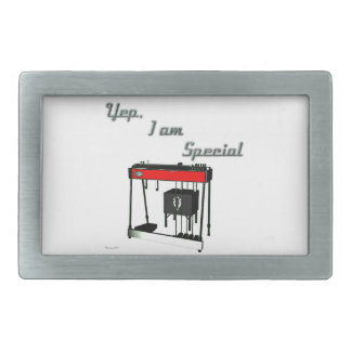Yep I'm Special - Pedal Steel Guitar Rectangular Belt Buckle
