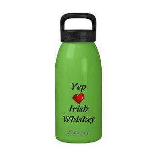 Yep whisky del irlandés del amor botella de beber