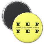 YEP YEP Button Magnet