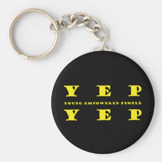 Yep Yep Non Apparel Products Basic Round Button Keychain