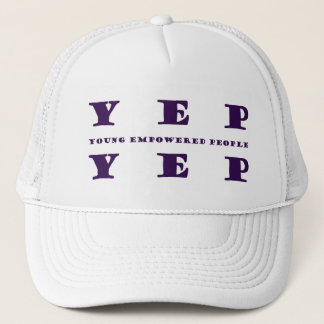 YEP YEP Purple Print Trucker Hat