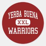 Yerba Buena - guerreros - alto - San Jose Etiqueta Redonda
