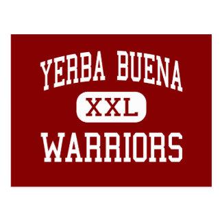 Yerba Buena - Warriors - High - San Jose Postcard