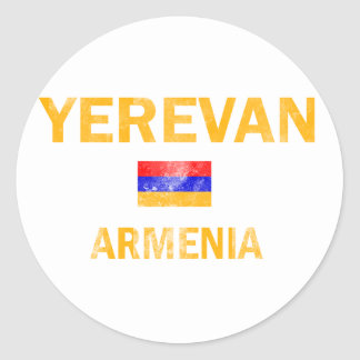 Yerevan Armenia designs Classic Round Sticker