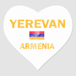 Yerevan Armenia designs Heart Sticker