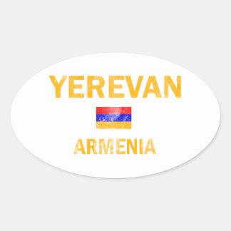 Yerevan Armenia designs Oval Sticker