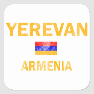 Yerevan Armenia designs Square Sticker