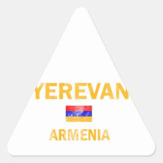 Yerevan Armenia Designs Triangle Sticker