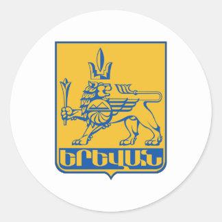 Yerevan Coat Of Arms Classic Round Sticker