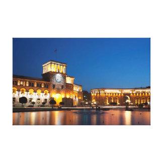Yerevan, Republic square Canvas Print