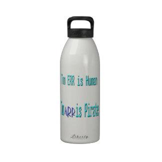 Yerran también son ARR humanos son también pirata Botella De Agua Reutilizable