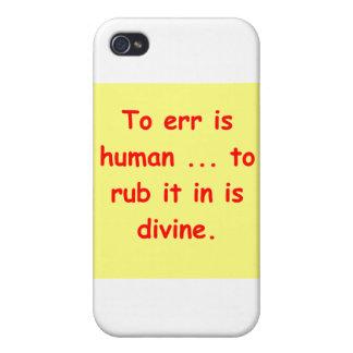 yerre también es humano iPhone 4 carcasa