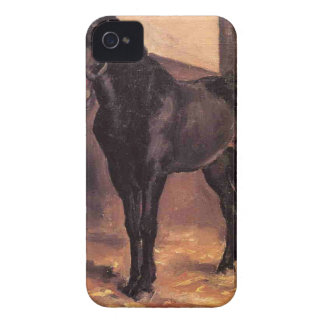 Yerres, Dark Bay Horse in the Stable by Gustave Ca iPhone 4 Cases