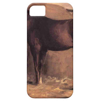 Yerres, Reddish Bay Horse in the Stable by Gustave iPhone SE/5/5s Case