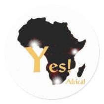 Yes! Africa! Sticker