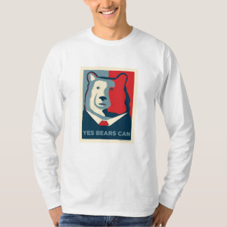 Yes Bears Can Mens Long Sleeve Shirt