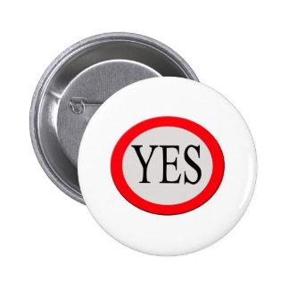 Yes 2 Inch Round Button