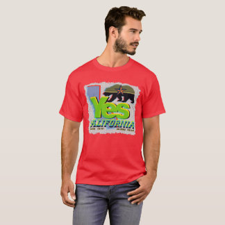 YES CALIFORNIA CALEXIT Green+Yellow Bear T-Shirt
