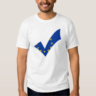 Yes Checkmark Flag Pro European Union Shirt