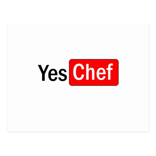 Yes Chef Postcard