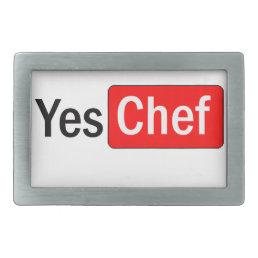 Yes Chef Rectangular Belt Buckle