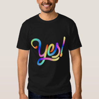 Yes! – Colorful type treatment t-shirt