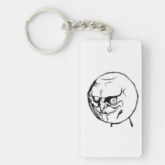 Yes Comic Meme Single-Sided Rectangular Acrylic Keychain