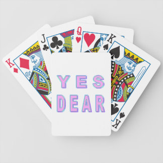 YES DEAR BICYCLE PLAYING CARDS