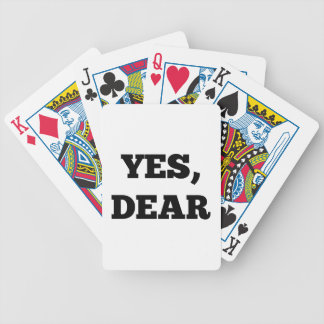 Yes, Dear Bicycle Playing Cards