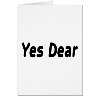 Yes Dear Card