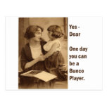 yes, dear one day you can be a bunco player postcard