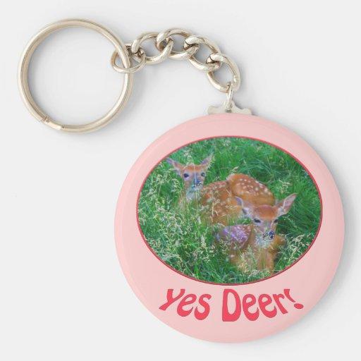 Yes Deer Keychain
