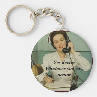 Yes Doctor Funny Vintage Nurse Keychain