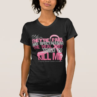 Yes Fake and Spectacular - Breast Cancer Tee Shirts