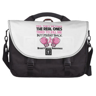 Yes Fake I Fought Back Breast Cancer Awareness Bag For Laptop