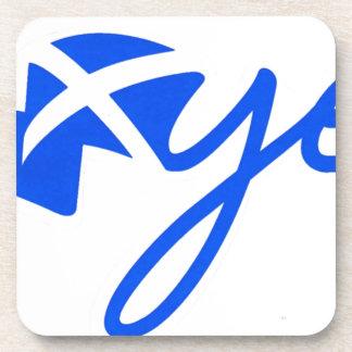 Yes - Flag of Scotland, Bratach na h-Alba Beverage Coaster