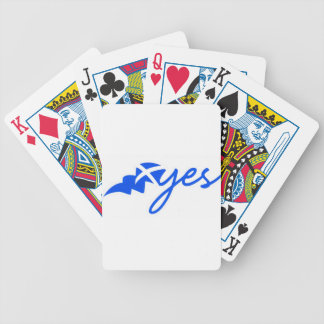 Yes - Flag of Scotland, Bratach na h-Alba Bicycle Playing Cards